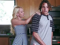 Aaliyah Love works on Tyler Nixon's dick and takes it in her pink slit