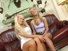 Epic Blonde With Hot Ass Giving Massive Dick Blowjob