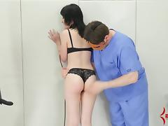 Young Goth girls gets rough anal punishment with lots of ATM