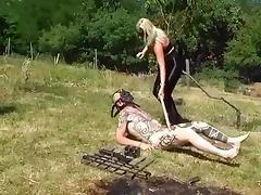 Pain spandex ass