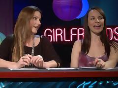 Girlfriends films presents a cute talk show along hot blondes