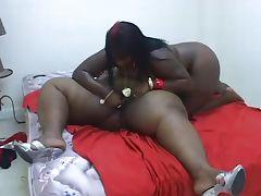 BBW Ebony Lesbians pleasure each other