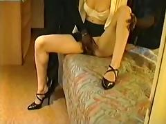 Victoria French wife blindfolded with 3 blacks Part-1