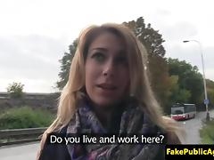 Pickedup eurobabe fucked on backseat of car