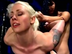 She gets air banged by her domina as she hangs from the ceiling