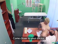 hot pussy rides a fake doctor