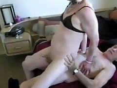 Crossdresser fucked old friend  receiving cum
