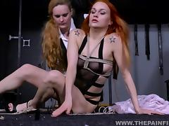 Kinky Dirty Marys lesbian electro bdsm and slavegirl humiliation of spanked amateur