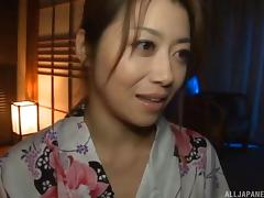 Gorgeous Japanese housewife getting the necessary missionary drilling