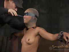 Blindfolded and fucked without mercy during an intense bdsm action