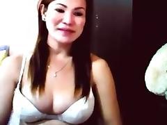 Real Filipina Hermaphrodite Skype Show 6