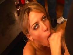 Horny pornstar Holly Wellin in exotic blowjob, gangbang porn scene