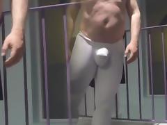 Spandex chaps a workout
