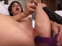 Hot brunette loves hard sex