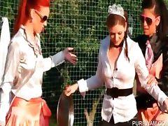 WAM outdoor scene with kinky lesbians