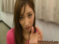 Asian babe gets bukkake 4 by BukkakeLoad