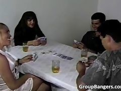 Party of poker becomes hardcore orgy