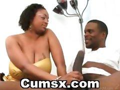 Big Breasts Ebony Sucking And Licking Black Cock