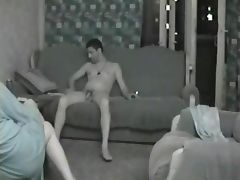 Straight Men Chilling Out Naked