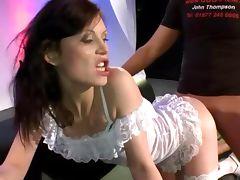Bukkake fetish cum slut fucking and sucking