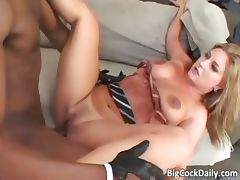 Sexy blonde skank with big tits blows part6