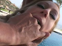 Dirty dame's derriere drilled