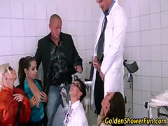 Piss fetish bizarre group shower