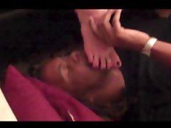 Fan footjob French Pedicure toes