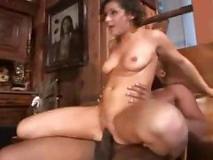Latina Gets Both Black Cocks
