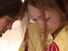 Sakura Hirota and her guy touching and fucking