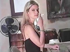 Blonde and Seductive Smoking