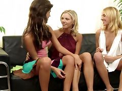 Three Lesbian Chicks Getting Freaky