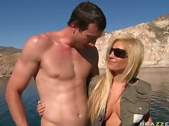 Busty Beauty Tasha Reign Gets Her Shaved Pussy Fucked after Fishing Trip