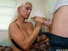 Chesty Blonde MILF Holly Halston Claiming Back Her Stolen Orgasm