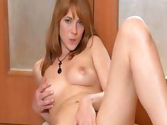 Hairy girl undressing on the floor