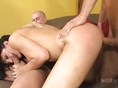 Roxanne Hall Milf fucked by Father and Son