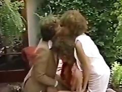 Porn threesome movie in the garden