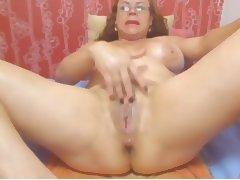 Webcam Colombian granny Milf teasing