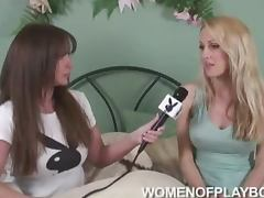 Hot Heather Bauer gives an interview for Playboy