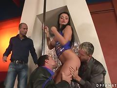 Nasty Stripper Aletta Ocean Having Fun with Three Dicks