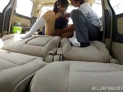 Big Titted Japanese School Girl Fucked Nicely in a Car
