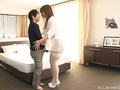 Japanese whore gets her cunt eaten and drilled remarcably well