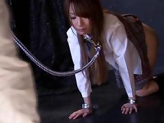 Ayaka Fujikita gives a blowjob to some guy in a jail