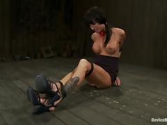 Wild Bondage Fucking for Brunette Gia Dimarco in BDSM Vid