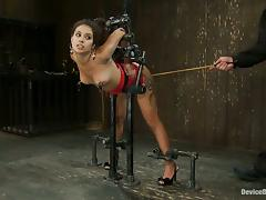 Domination and Spanking Action in BDSM Video for Jynx Maze
