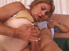 Granny Enjoys A Big Fat Cock