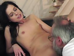 Daniella is sucking a big old dick