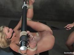 Phoenix Marie gets her pussy destroyed by Steven St. Croix in BDSM scene