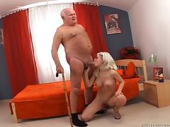 blonde slut sucked grandpa @ this isn't sinful grandpa it's a xxx