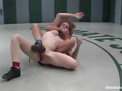 Lucy Fire gets fingered and dominated by Wenona in a ring